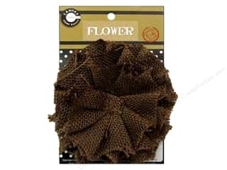 burlap: Canvas Corp Burlap Flower 4 in. Chocolate