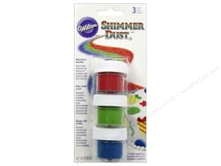 Wilton Edible Decorations Shimmer Dust Set Primary