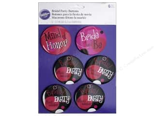 Wilton Decorations Bridal Party Buttons 6pc