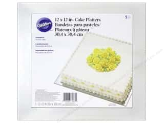 "Wilton Decorations Cake Platter Square 12"" Silver 5pc"