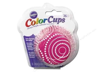 Baking Wraps / Cupcake Wrappers: Wilton Baking Cup Colorcups Circle Dots Pink 36pc
