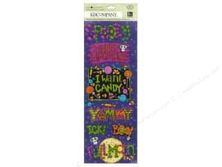k & company chipboard: K&Company Adhesive Chipboard Tim Coffey Halloween Word