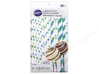 Wilton Decorations Lollipop Sticks Blue & Green