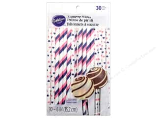 Wilton Decorations Lollipop Sticks Pink & Purple