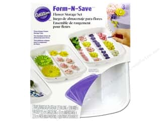 Wilton: Wilton Containers Storage Tray Set Flower Form N Save 6pc