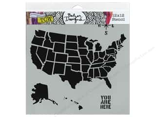 Clearance The Crafters Workshop Template: The Crafter's Workshop Template 12 x 12 in. US Map