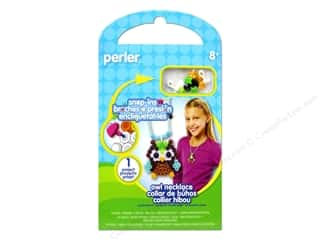 beading & jewelry making supplies: Perler Snap-Ins Activity Kit Owl Necklace