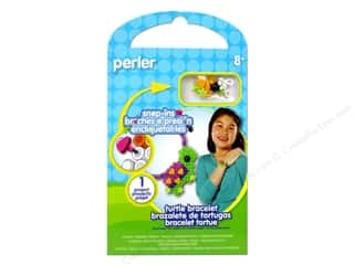 beading & jewelry making supplies: Perler Snap-Ins Activity Kit Turtle Bracelet