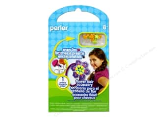beading & jewelry making supplies: Perler Snap-Ins Activity Kit Flower Hair Accessory