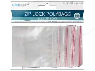 scrapbooking & paper crafts: Craft Medley Zip Lock Bags 3 x 3 in. 60 pc.