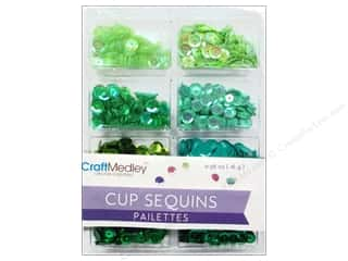 Craft Medley 7 mm Cupped Sequins Go Green