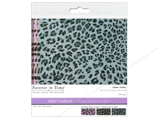 "Cardstock  6x6: Multicraft Cardstock 6""x 6"" Safari Leopard 2 6pc"