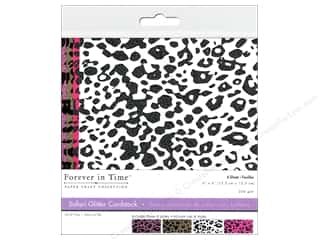 "Cardstock  6x6: Multicraft Cardstock 6""x 6"" Safari Glitter A 4pc"