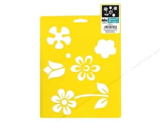 craft & hobbies: Delta Stencil Mania 7 x 10 in. Flowers