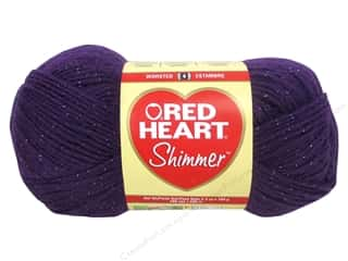 shimmer yarn: Red Heart Shimmer Yarn #1507 Plum 280 yd.
