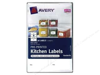 Labels: Avery Pre-Printed Kitchen Labels 40 pc. Green