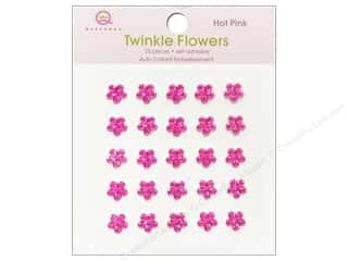 Queen & Company: Queen&Co Sticker Twinkle Flowers Hot Pink