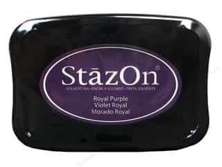 scrapbooking & paper crafts: Tsukineko StazOn Large Solvent Ink Stamp Pad Royal Purple