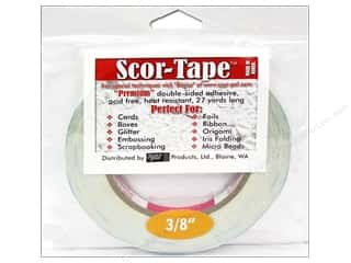 Double Sided Tape: Scor-Pal Scor-Tape Double Sided Adhesive 3/8 in. x 27 yd.