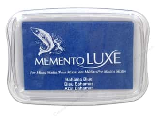 stamps: Tsukineko Memento Luxe Ink Pad Large Bahama Blue