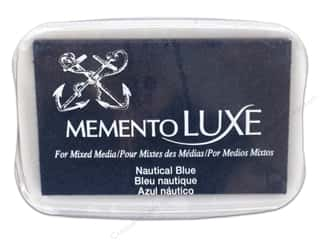 memento luxe pigment: Tsukineko Memento Luxe Ink Pad Large Nautical Blue