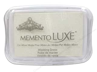 memento luxe pigment: Tsukineko Memento Luxe Ink Pad Large Wedding Dress