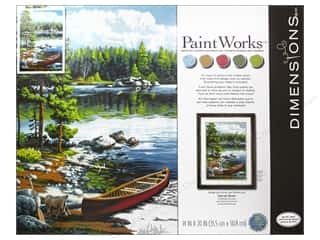 Projects & Kits: Paintworks Paint By Number Kit 14 x 20 in. Canoe By The Lake