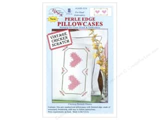 stamps: Jack Dempsey Pillowcase Perle Edge White Chicken Scratch Heart