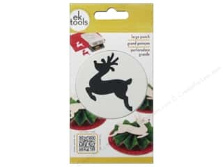 EK Paper Shapers Large Punch Leaping Reindeer 2 1/4 in.