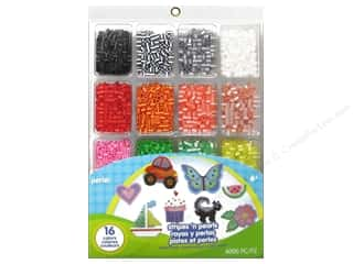 beading & jewelry making supplies: Perler Fused Bead Tray Stripes 'N Pearls 4000 pc.