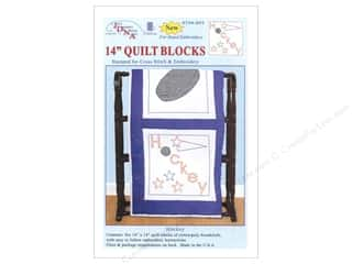 sport yarn: Jack Dempsey 14 in. Quilt Blocks 6 pc. Hockey