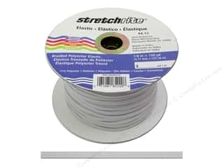 Stretchrite Braided Elastic Flat 1/8 in. x 150 yd White (150 yards)