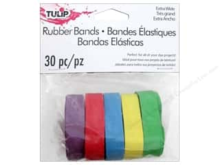 craft & hobbies: Tulip Wide Rubber Bands 30 pc. Multi