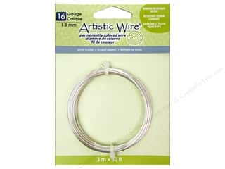 16 gauge wire: Artistic Wire 16 ga. Copper Wire 10 ft. Non Tarnish Silver Plated