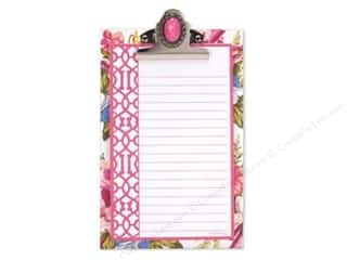 Holiday Gift Ideas Sale Clover Wonder Clips: Lily McGee Note Pad Jeweled Clipboard Floral Pink