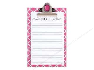 Holiday Gift Ideas Sale Clover Wonder Clips: Lily McGee Note Pad Jeweled Clipboard Geometric Pink