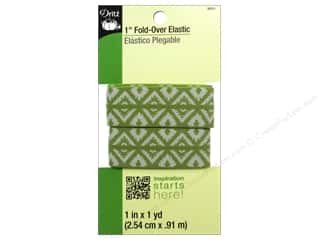 Best of 2013 Dritz Fold Over Elastic: Fold-Over Elastic by Dritz 1 in. x 1 yd. Foulard Design Green