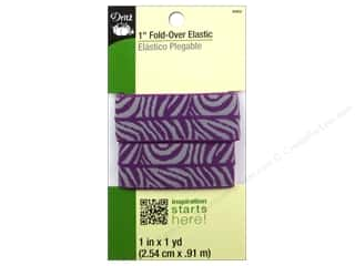 Best of 2013 Dritz Fold Over Elastic: Fold-Over Elastic by Dritz 1 in. x 1 yd. Zebra Purple/Grey