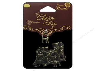 Clearance Sweet Beads: Sweet Beads Charms Metal Cat 16 pc. Ox Brass