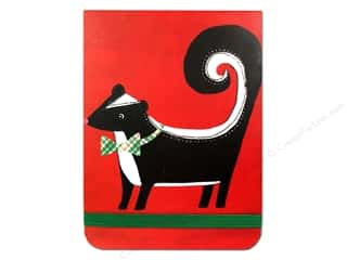 Clearance Punch Studio Decorative Magnet: Punch Studio Note Pad Pocket Flip Holiday Skunk (2 pads)