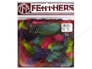 Zucker Feather Guinea Plumage Feathers .10 oz. Day Glo Mix