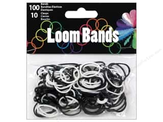 Best of 2013 Midwest Design Loom Bands: Midwest Design Loom Bands 110 pc. Black/White Assorted