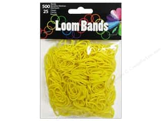Best of 2013 Midwest Design Loom Bands: Midwest Design Loom Band Yellow 525 pc.