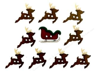 Jesse James Dress It Up Embellishments Sew Cute Sleigh & Reindeer