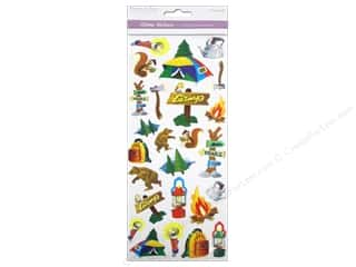 Scrapbooking & Paper Crafts  Papers : Multicraft Sticker Paper Craft Glitter Camping