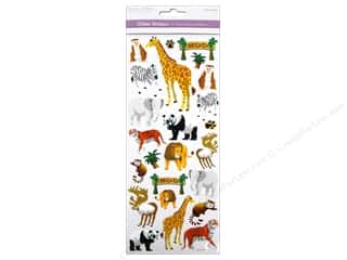 Scrapbooking & Paper Crafts  Papers : Multicraft Sticker Paper Craft Glitter Zoo Bound