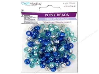 pony beads: Multicraft Bead Pony 8mm 19gm Silver-Lined Cloud
