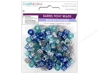 beading & jewelry making supplies: Multicraft Bead Pony 9x6mm 25gm Barrel Cloud