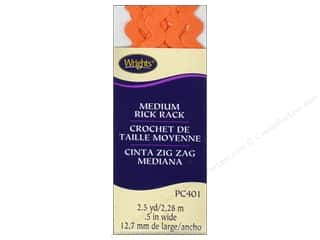 Wrights Rick Rack Medium 2 1/2 yd. Orange Peel