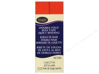 Wrights Double Fold Quilt Binding - Orange 3 yd.